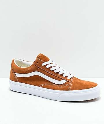 Vans Old Skool Brown Pig Suede Skate Shoes