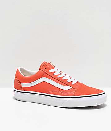 Vans Old Skool Emberglow & True White Skate Shoes