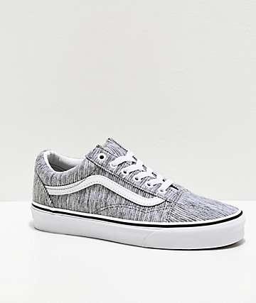 Vans Old Skool Grey Rib Knit Skate Shoes