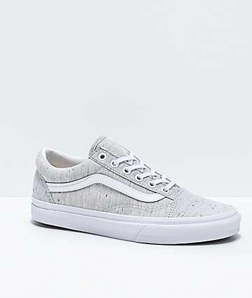Vans Old Skool Jersey Grey & Speckled Skate Shoes