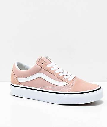 Vans Old Skool Mahogany Rose & White Skate Shoes