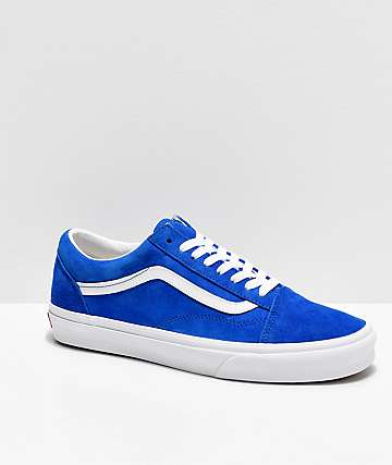 Vans Old Skool Pig Suede Princess Blue Skate Shoes