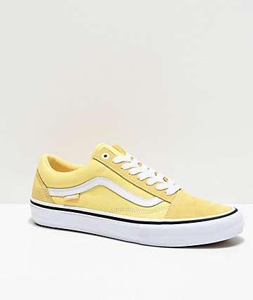 Vans Old Skool Pro Pale Banana & White Skate Shoes