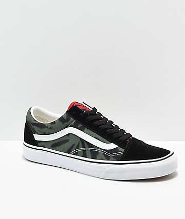 Vans Old Skool Rasta Tie Dye Skate Shoes