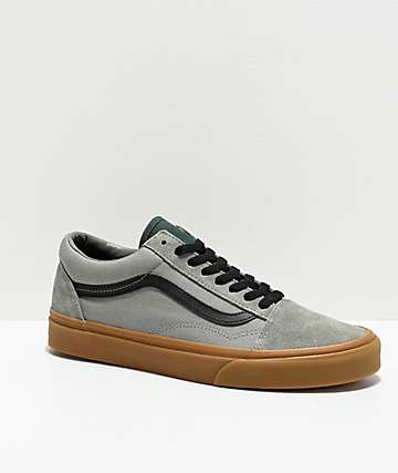 Vans Old Skool Shadow Green & Gum Skate Shoes