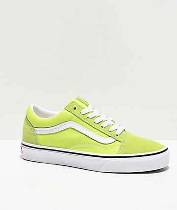 Vans Old Skool Sharp Green & White Skate Shoes