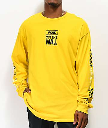 Vans Pacific Sulfur Yellow Long Sleeve T-Shirt