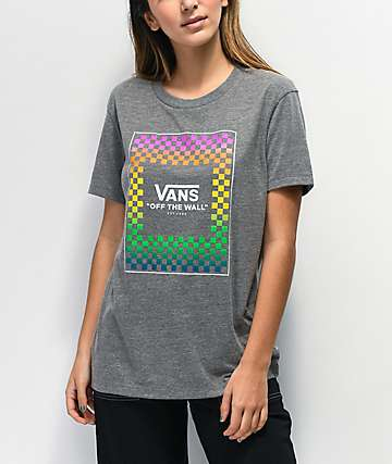 Vans Rainbow Box Grey T-Shirt