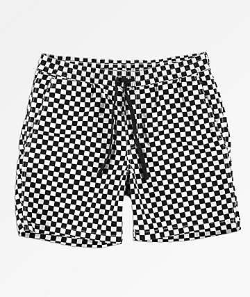Vans Range shorts de cuadros negros y blancos