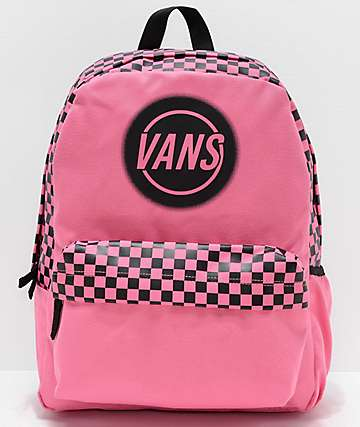 Vans Realm Taper Off Azalea Pink Backpack