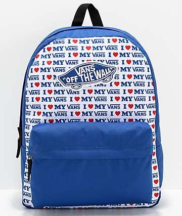 Vans Realm Vans Love Blue Backpack