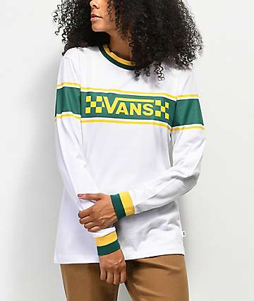 Vans Reband 2.0 Green & Yellow Long Sleeve T-Shirt