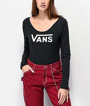 Vans Scoop Black Long Sleeve Bodysuit