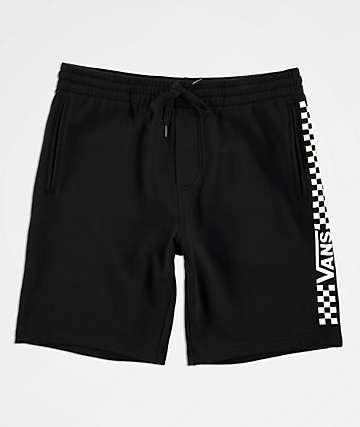 Vans Side Check Black Fleece Sweat Shorts