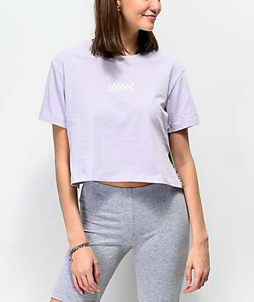 Vans Side Split Lavender Crop T-Shirt