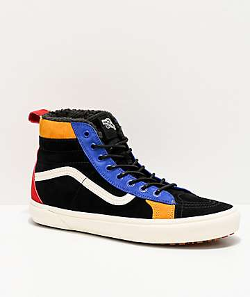 Vans Sk8-Hi 46 MTE DX Web Black & Surf Blue Shoes