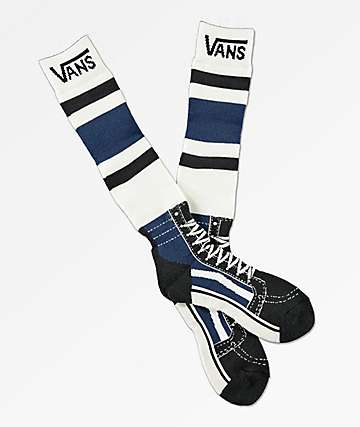 Vans Sk8-Hi Blue & White Acrylic Snowboard Socks