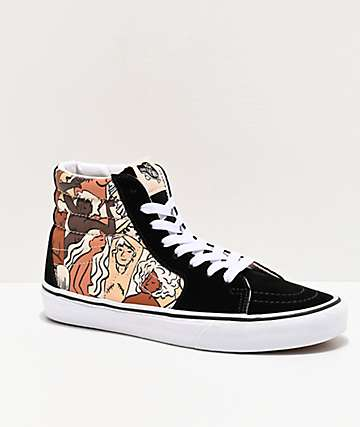 Vans Sk8-Hi Breast Cancer Awareness Black & White Skate Shoes