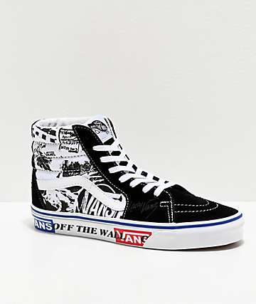 Vans Sk8-Hi Lady Vans Black & True White Skate Shoes