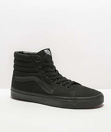 Vans Sk8-Hi Mono Black Skate Shoes