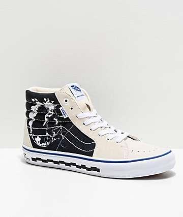 Vans Sk8-Hi Pro BMX 79 Marshmallow & Black Skate Shoes