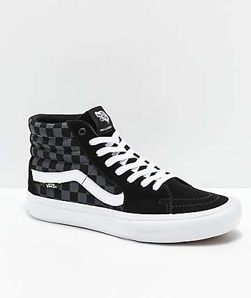 Vans Sk8-Hi Pro Reflect Black Skate Shoes