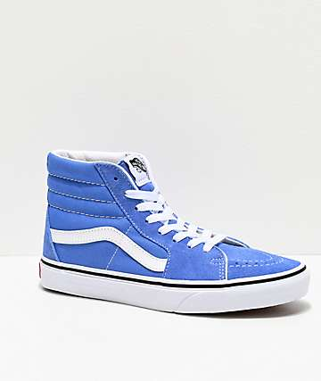 Vans Sk8-Hi Ultramarine & White Skate Shoes