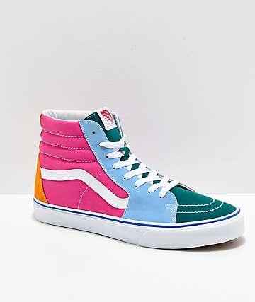 Vans Sk8-Hi zapatos de skate de colores vibrantes