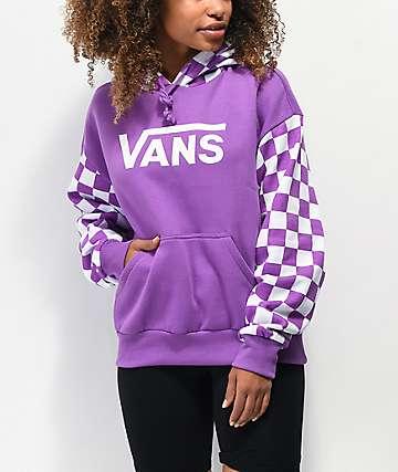 Vans Skate Purple & White Checkerboard Hoodie