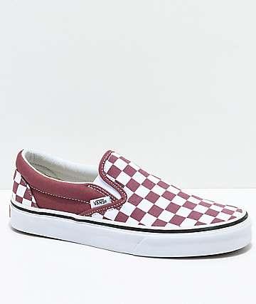 Vans Slip-On Apple & White Checkered Skate Shoes