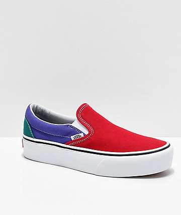 Vans Slip-On Colorblock zapatos de plataforma
