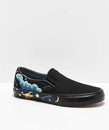 Vans Slip-On Desert Embellish Black Skate Shoes
