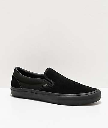 Vans Slip-On Pro Black Skate Shoes
