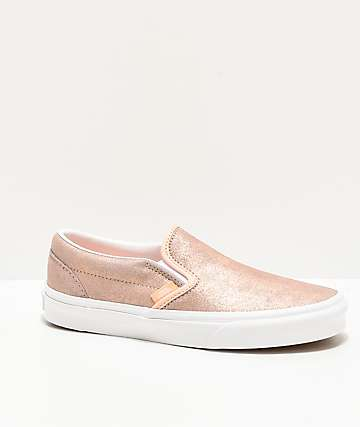 Vans Slip-On Rose Gold Skate Shoes