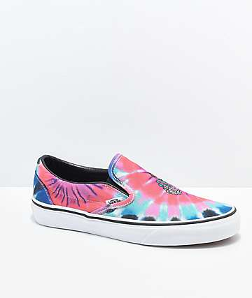 Vans Slip On Tie Dye Skate Shoes