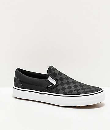 Vans Slip-On UC M4M Black Check & White Shoes