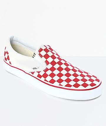 zapatillas vans cuadros rojos