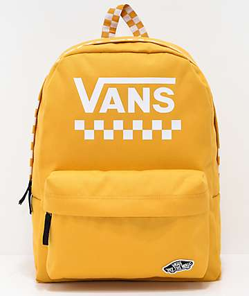 Vans Sporty Realm Yellow Checkerboard Backpack
