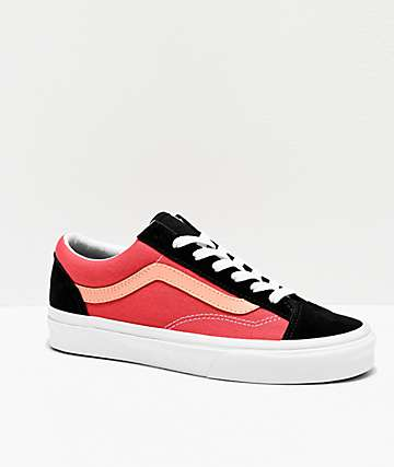 Vans Style 36 Salmon & Black Skate Shoes