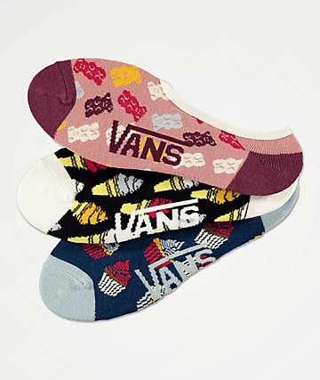 Vans Sugar Tooth Canoodle 3 Pack No Show Socks
