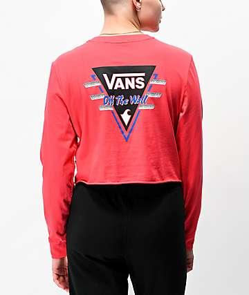 Vans Suma Time Berry Long Sleeve Crop T-Shirt