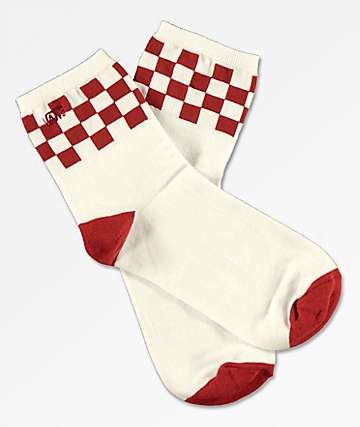 Vans Summit White & Red Crew Socks