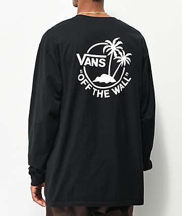 Vans Surf Palm camiseta negra de manga larga
