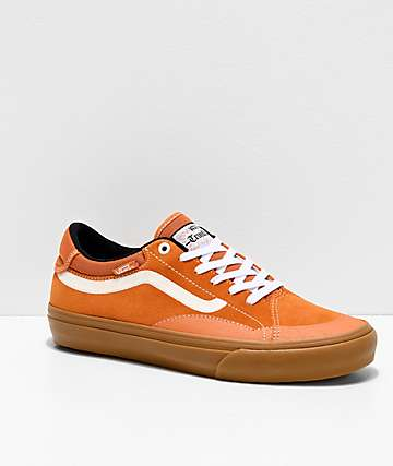 Vans TNT ADV Prototype Golden Oak, White & Gum Skate Shoes