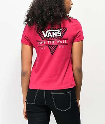Vans Tri Check Cerise Baby T-Shirt