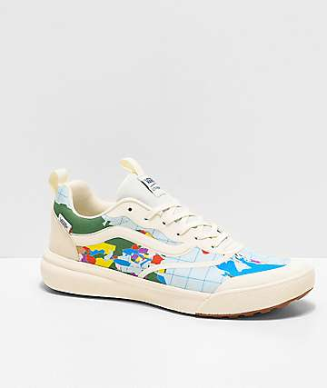 Vans UltraRange Rapidweld Save Our Planet Marshmallow & Multicolor Shoes