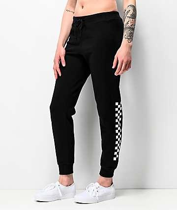 Vans Unseen pantalones deportivos negros de cuadros