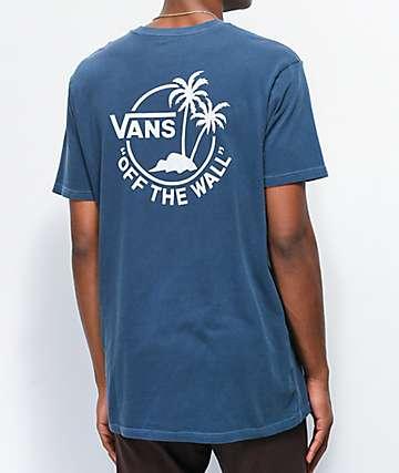 Vans Vintage Mini Dual Palm Blue T-Shirt