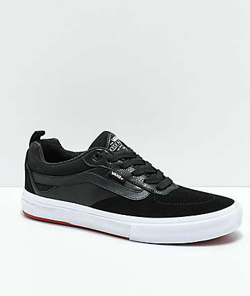 Vans Walker Pro Black & Red Skate Shoes