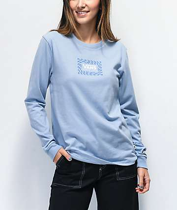 Vans Warped Box camiseta azul de manga larga